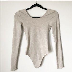 Wilfred Free Scoop Neck LS Bodysuit - Gray